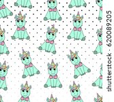 seamless pattern of unicorn... | Shutterstock .eps vector #620089205