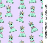 pattern of unicorn. | Shutterstock .eps vector #620089235