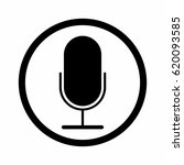 microphone sign vector design... | Shutterstock .eps vector #620093585