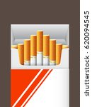pack of cigarettes  close up.... | Shutterstock .eps vector #620094545