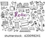 home doodle | Shutterstock .eps vector #620098241