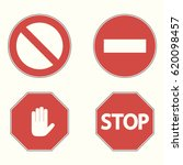 set of prohibitory road signs.... | Shutterstock .eps vector #620098457