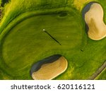 Aerial View Of Players On A...