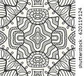 decorative doodle geometric... | Shutterstock .eps vector #620119124