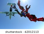 skydiving photo | Shutterstock . vector #62012113