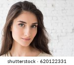 woman portrait natural... | Shutterstock . vector #620122331