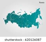 russia map | Shutterstock .eps vector #620126087