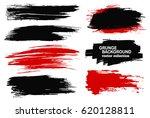 large grunge elements set.... | Shutterstock .eps vector #620128811