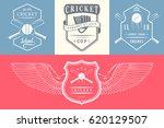 vector set of cricket logos ... | Shutterstock .eps vector #620129507