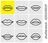 line lips icons | Shutterstock .eps vector #620143019