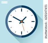 clock icon in flat style  timer ... | Shutterstock .eps vector #620147651