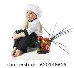 an adorable preschool chef...