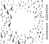 round musical frame of notes ... | Shutterstock .eps vector #620149244