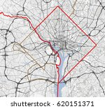 map washington city. district... | Shutterstock .eps vector #620151371
