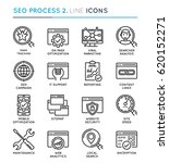 seo search engine optimization... | Shutterstock .eps vector #620152271