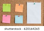 Time Management Concept With  Reminder Papers On Cork Board - stock photo