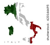 isolated italian map with its... | Shutterstock .eps vector #620166695