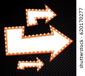 electric bulbs billboard. retro ... | Shutterstock .eps vector #620170277