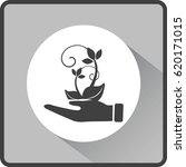 flat icon. ecology of plants....