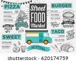 street food festival menu.... | Shutterstock .eps vector #620174759