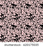 seamless pattern flower with... | Shutterstock .eps vector #620175035