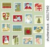 Large Set Of Christmas Postage...