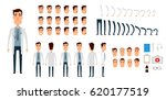 doctor character creation set.... | Shutterstock .eps vector #620177519