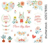 mother's day collection with... | Shutterstock .eps vector #620178581
