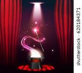 magic show poster design...   Shutterstock .eps vector #620184371