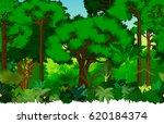 vector seamless tropical... | Shutterstock .eps vector #620184374