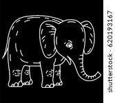 cute elephant cartoon sitting | Shutterstock .eps vector #620193167