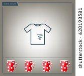 dirty shirt vector icon | Shutterstock .eps vector #620193581