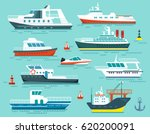vector set of ships and boats... | Shutterstock .eps vector #620200091