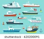 Vector Set Of Ships And Boats...