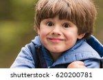 outdoor portrait of cute young... | Shutterstock . vector #620200781