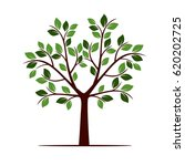 color tree with leafs. vector...   Shutterstock .eps vector #620202725