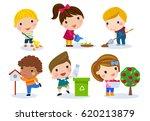 group of children set | Shutterstock .eps vector #620213879