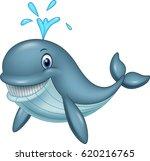 cartoon funny whale