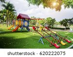 children playground on yard...