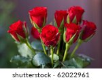 Stock photo bouquet of fresh red roses 62022961