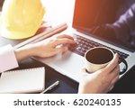engineer is working in office... | Shutterstock . vector #620240135