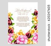 romantic invitation. wedding ... | Shutterstock .eps vector #620247605