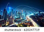 modern cityscape and network... | Shutterstock . vector #620247719