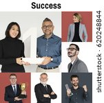 collage of business people with ... | Shutterstock . vector #620248844