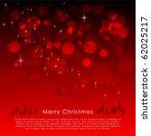 red christmas background vector | Shutterstock .eps vector #62025217