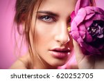 beauty portrait. gorgeous young ... | Shutterstock . vector #620252705