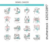 cancer of the intestine. set of ... | Shutterstock .eps vector #620252897