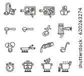 cooking  instruction icon set... | Shutterstock .eps vector #620263274