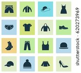 dress icons set. collection of... | Shutterstock .eps vector #620273969