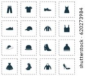 clothes icons set. collection... | Shutterstock .eps vector #620273984